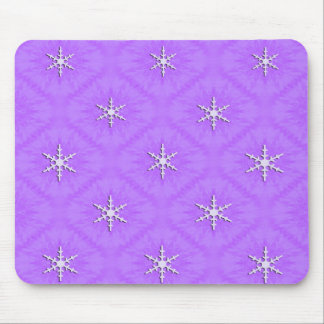Snowflakes on lavender... mouse pad