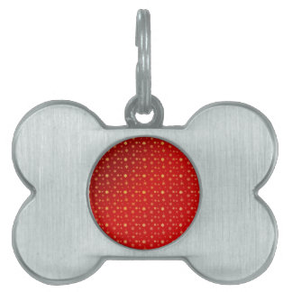 Snowflakes on red pet name tag