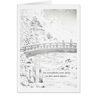 Snowflakes on the Bridge Card