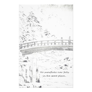 Snowflakes on the Bridge Stationery