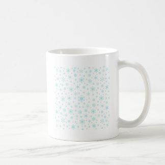 Snowflakes – Pale Blue on White Coffee Mug