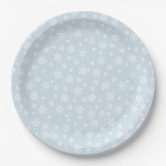Snowflakes Paper Plate