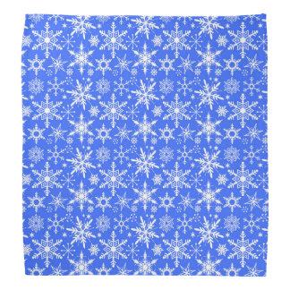 Snowflakes pattern bandana