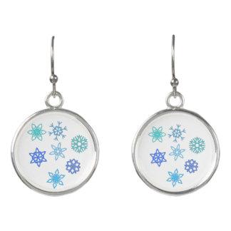 Snowflakes Pattern Dangle Earrings