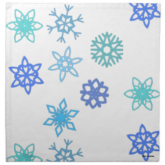Snowflakes Pattern Holiday Cloth Napkins