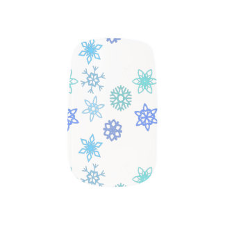 Snowflakes Pattern Holiday Nail Art