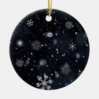 Snowflakes pattern illustration christmas tree ornaments