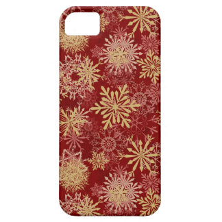 Snowflakes Pattern on Red Barely There iPhone 5 Case