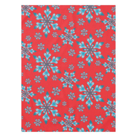 Snowflakes Pattern Tablecloth