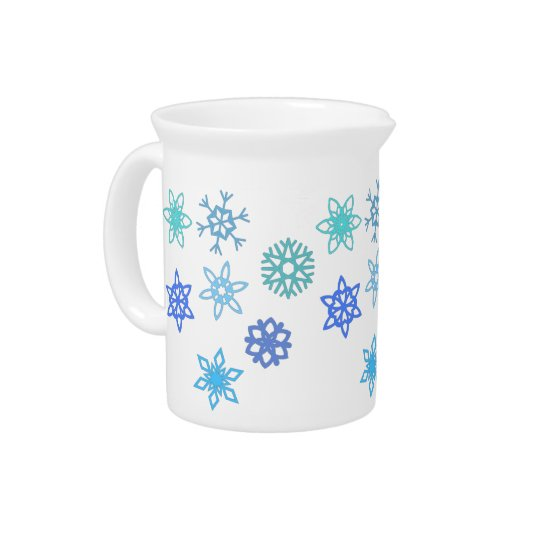 Snowflakes Pattern Winter Themed Pitcher