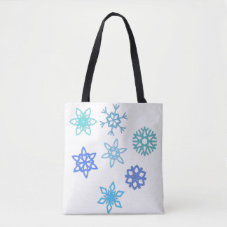 Snowflakes Pattern Winter Tote Bag
