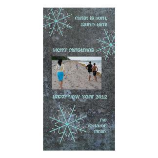 Snowflakes Personalised Photo Card