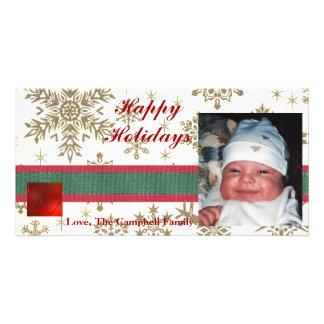Snowflakes Photo Holiday Card Photo Card