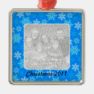 Snowflakes Photo Ornament