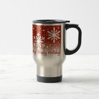 Snowflakes Red Holidays - mug