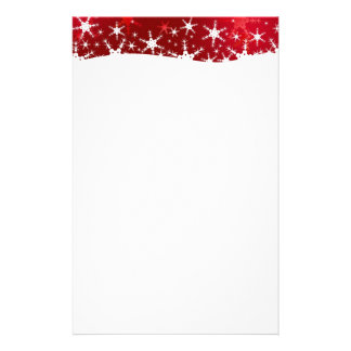 Snowflakes Red Merry Christmas - Stationery