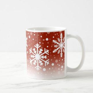 Snowflakes Red - Mug