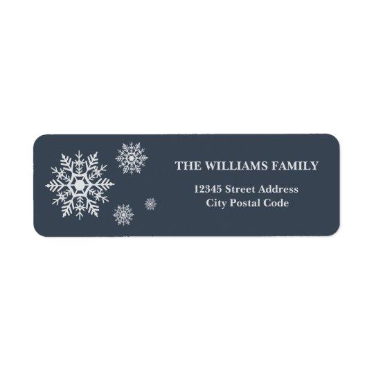 Snowflakes Return Address Label
