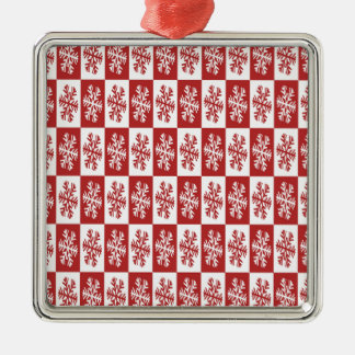 snowflakes Silver-Colored square decoration