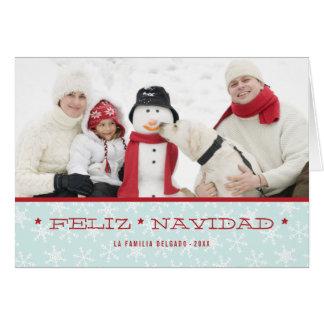 Snowflakes   Spanish Holiday Photo Greeting Card