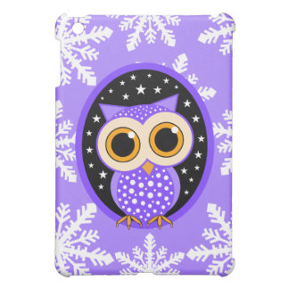snowflakes stars purple owl iPad mini cases