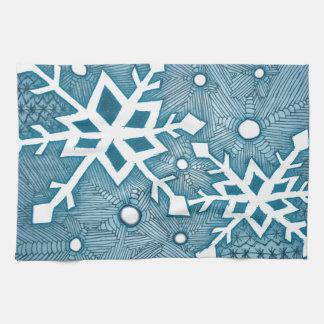 Snowflakes Tea Towel