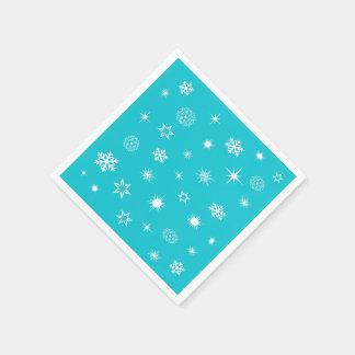 Snowflakes theme disposable napkin