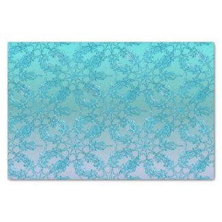 Snowflakes Turquoise Blue Fade tissue Tissue Paper