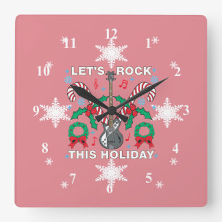 Snowflakes Ugly Sweater Lets Rock This Holiday Square Wall Clock