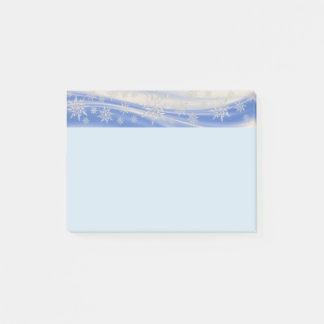 Snowflakes w/Blue and Grey Background Post-it Notes