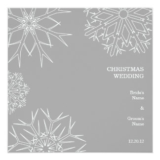 Snowflakes Wedding Invitation