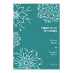 Snowflakes Wedding Save The Date Card 9 Cm X 13 Cm Invitation Card