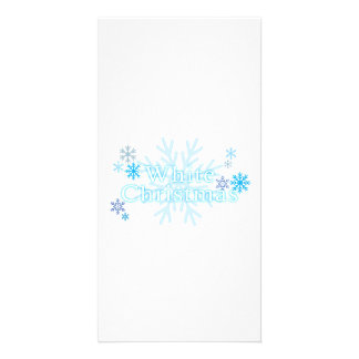 Snowflakes White Christmas Magnet Mouse Pad Mugs Personalized Photo Card