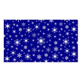 Snowflakes - White on Dark Blue Pack Of Standard Business Cards