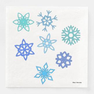 Snowflakes Winter Pattern Napkins Disposable Napkin