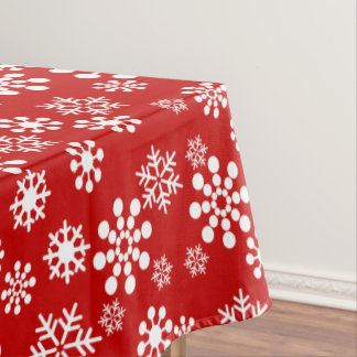 """Snowflakes winter Tablecloth, 52""""x70"""" Tablecloth"""