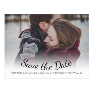 Snowflakes Winter Wedding Save the Date Postcard