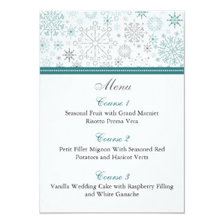 Snowflakes Winter Wedding Stationery Card