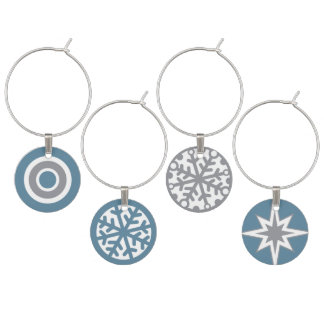 Snowflakes Winter Wine Charms