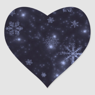 Snowflakes with Midnight Blue Background Sticker