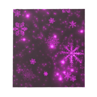 Snowflakes with Purple Background Memo Note Pads