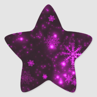 Snowflakes with Purple Background Stickers