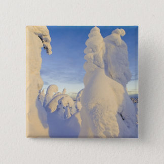 Snowghosts at sunset at Whitefish Mountain 15 Cm Square Badge