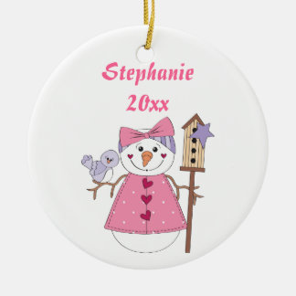 Snowgirl Holiday Ornament