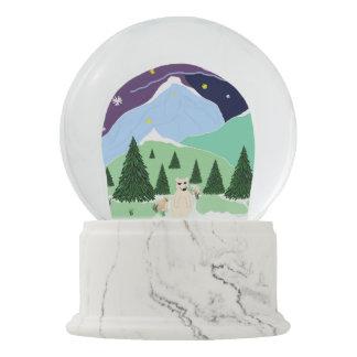 "Snowglobe Custom ""PolarBears and Snowflakes"""