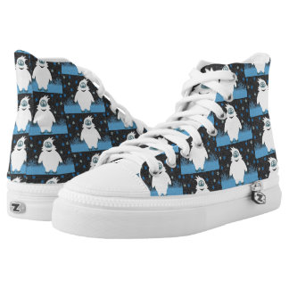 Snowie the abominable snowman high tops