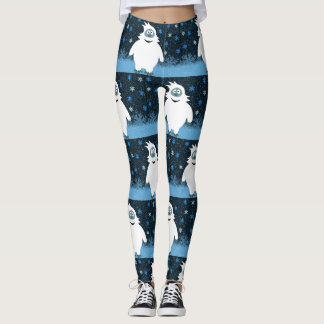 Snowie the abominable snowman leggings