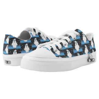 Snowie the abominable snowman low tops
