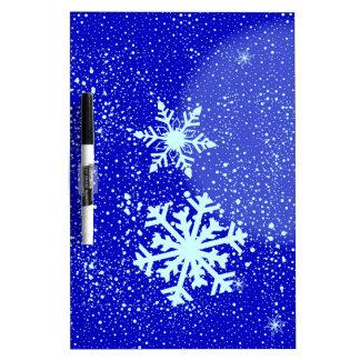 Snowing Dry Erase Board