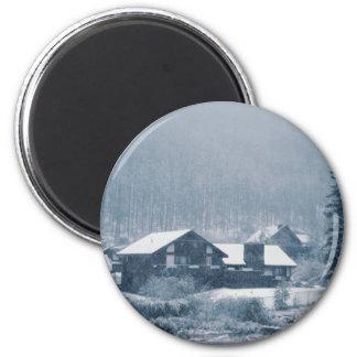 Snowing In Aspen Magnets
